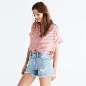 Madewell Central Tie Back Shirt